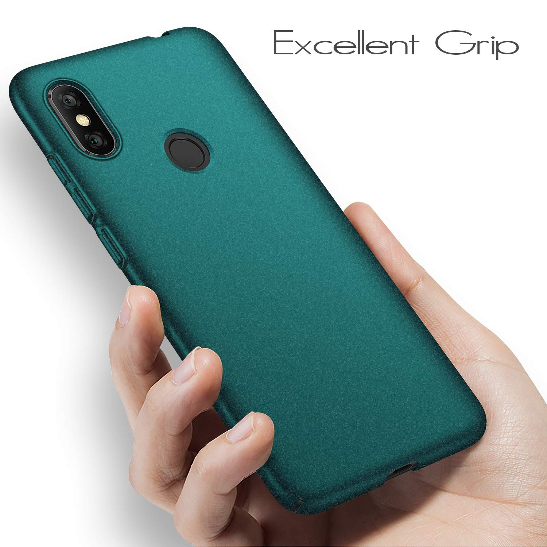anccer Funda Xiaomi Redmi Note 6 Pro [Serie Colorida] [Ultra-Delgado] [Ligera] Anti-rasguños Estuche para Redmi Note 6 Pro (Grava Verde)