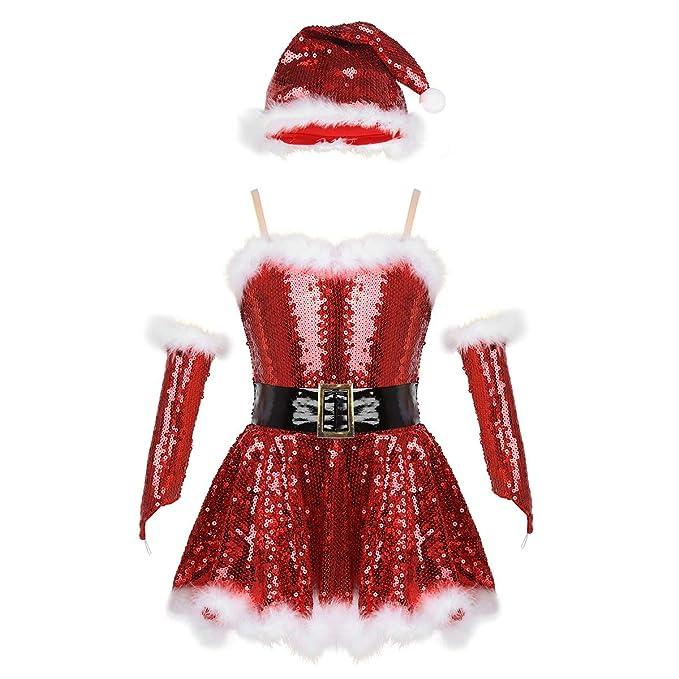 Amazon.com: Moily - Disfraz de Papá Noel con lentejuelas ...