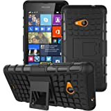 Zokney Microsoft Lumia 535 Back Cover Dual Layer Protection Rugged Armor Case For Lumia 535 Cover Pouch With Stand Feature