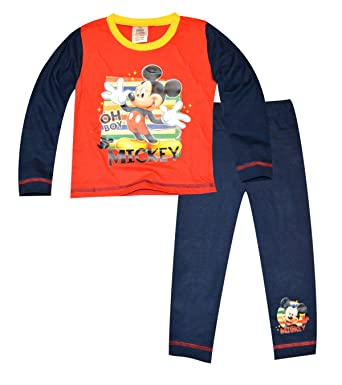 623078221cc3 Amazon.com  Disney Baby-Boy s Mickey Mouse Pajamas 3-4 Years Red ...