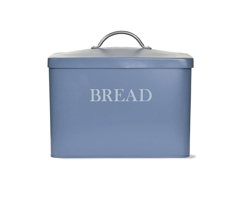 Garden Trading Kitchen Bin Garden Trading Bread Bin Dorset Blue Amazoncouk Kitchen Home