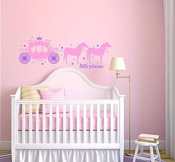 Princess Carriage y estrellas - bebé niña - guardería vinilo de ...