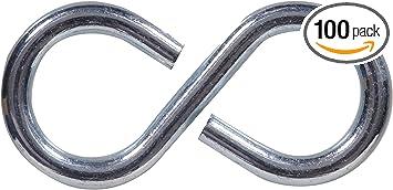 National 2 In Zinc Heavy Open S Hook Pack 50