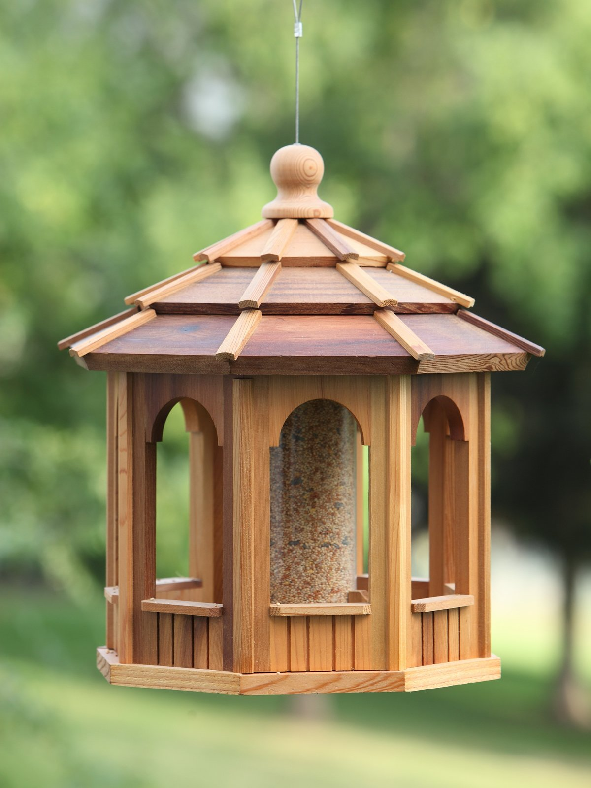 All Things Cedar Octagonal Bird Feeder