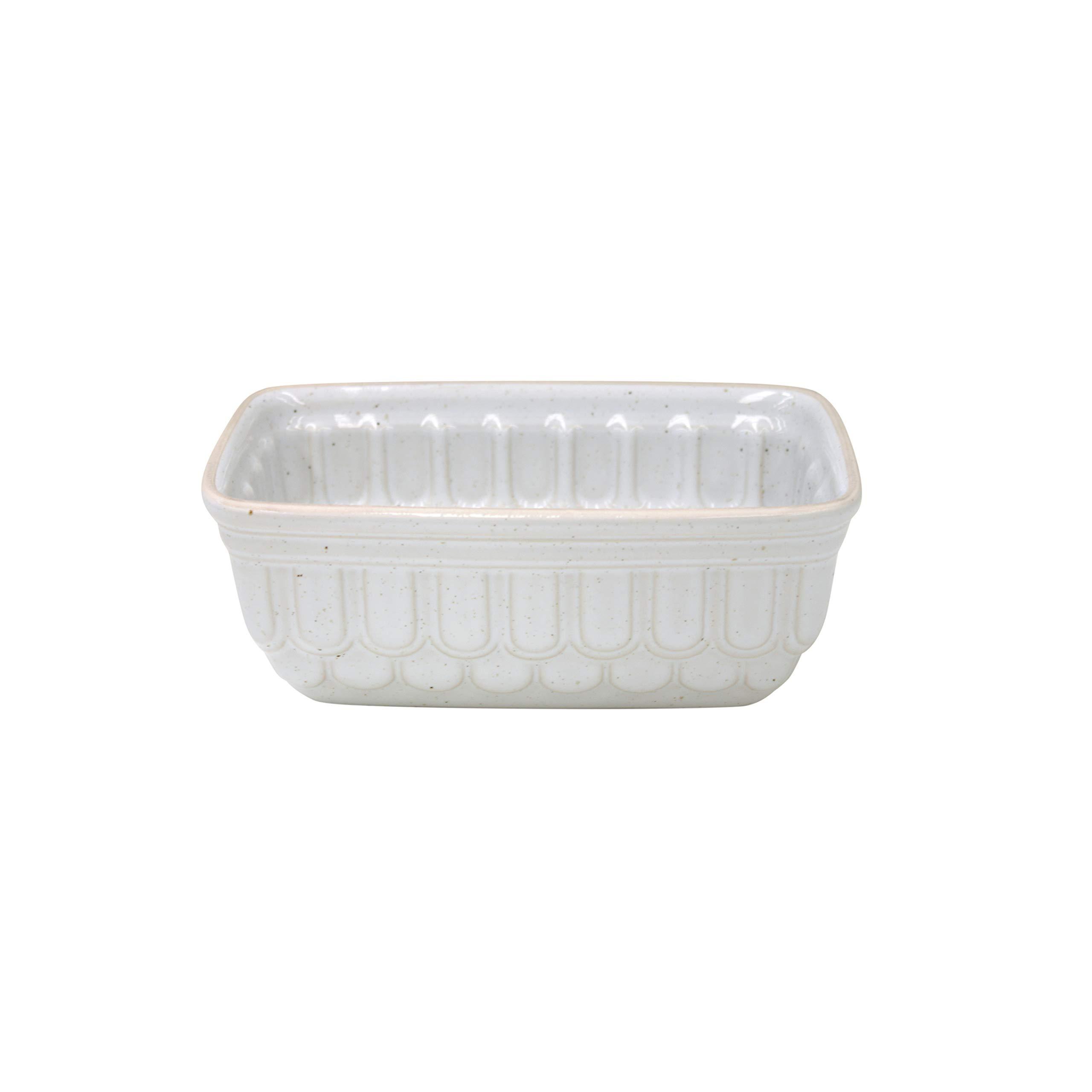 Casafina Fattoria Collection Stoneware Ceramic Loaf Pan 7.75''x4.5'', White