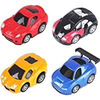 Pull Back Vehicles , Mini Plastic Vehicle Set , Vehicles Truck Mini Car Toy For Kids Toddlers Boys , Pull Back and Go Car Toy Play Set (4 Pack)