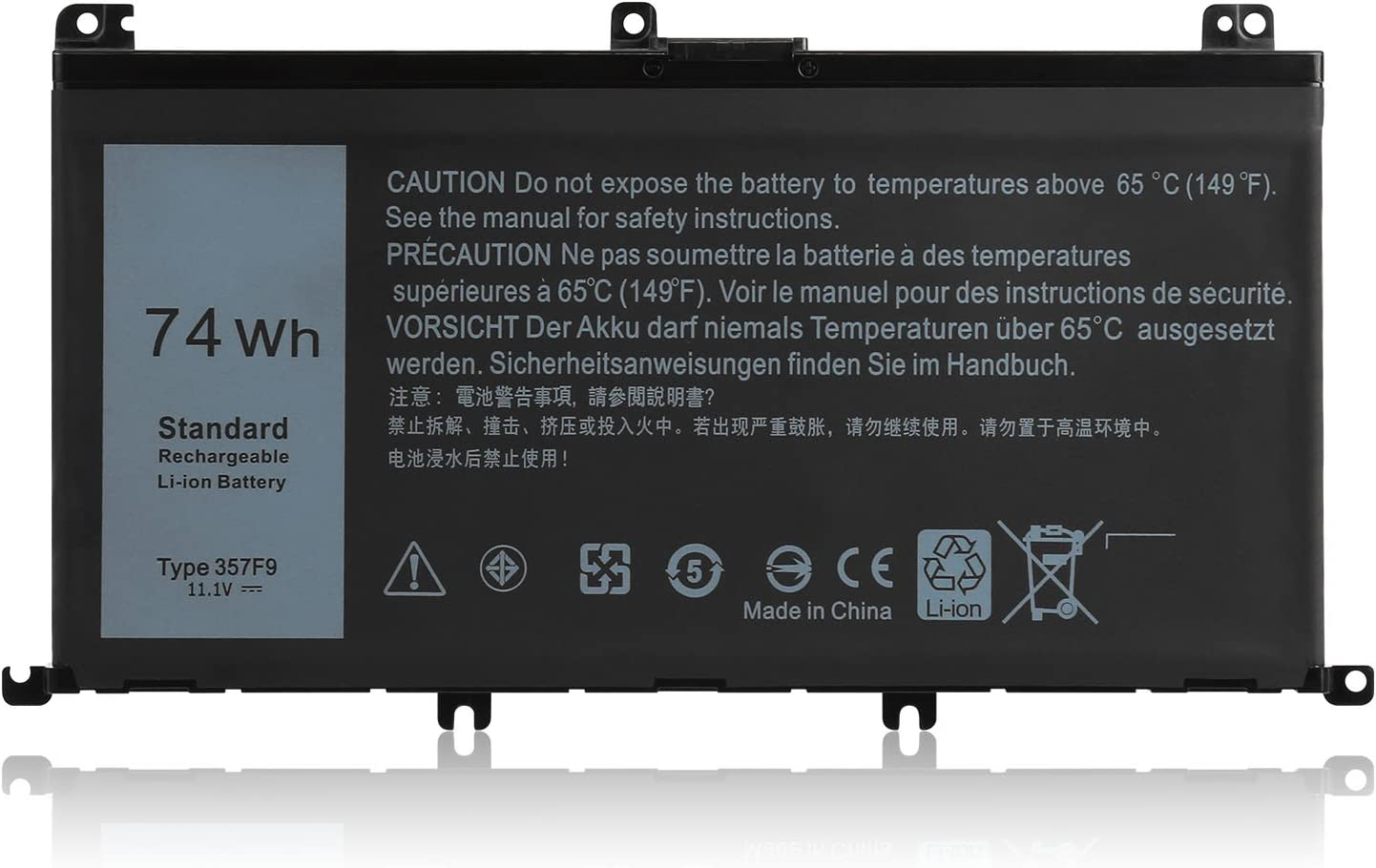 CPY 357F9 Replacement Laptop Battery for Dell Inspiron 7000 Dump 15 7559 7557 INS15PD Series 0GFJ6 71JF4 11.1V 74Wh