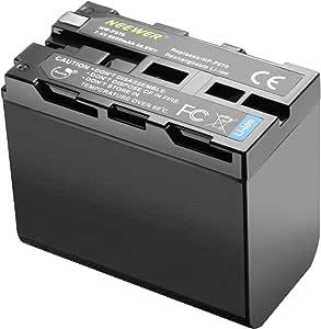 Neewer 6600mAh Li-ion Battery, Replacement Battery for Sony NP-F970 NP-F960 NP-F975 NP-F570 NP- F750 NP-F770, Suitable for Neewer CN160 NW759 74K 760 FW759 74K 760 LED Video Light, Monitor