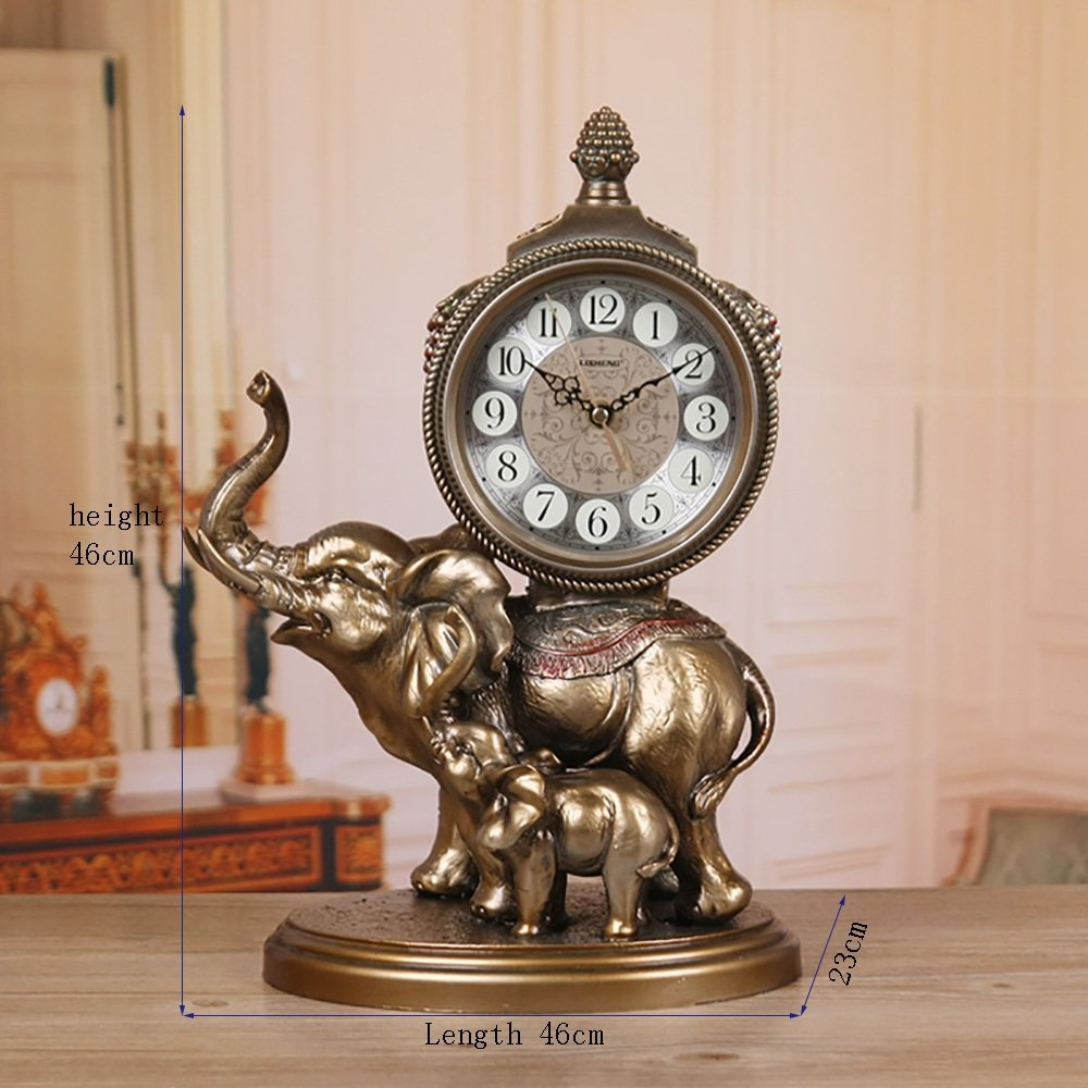 TOYM US European retro clock Creative large silence Decoration Sitting room clock by Table Clock
