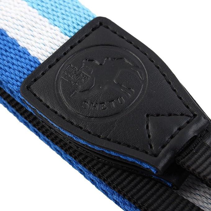 Amazon.com: eDealMax SHETU cámara autorizado antideslizante hombro Correa Para el Cuello Blanco del Cielo Azul Para DSLR: Electronics