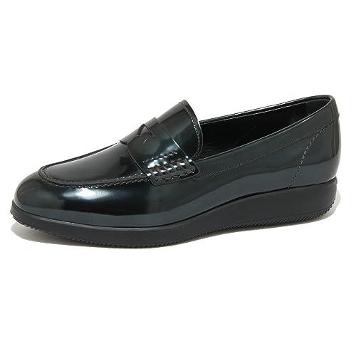 0726O mocassino HOGAN DRESS verde scarpe donna loafer women