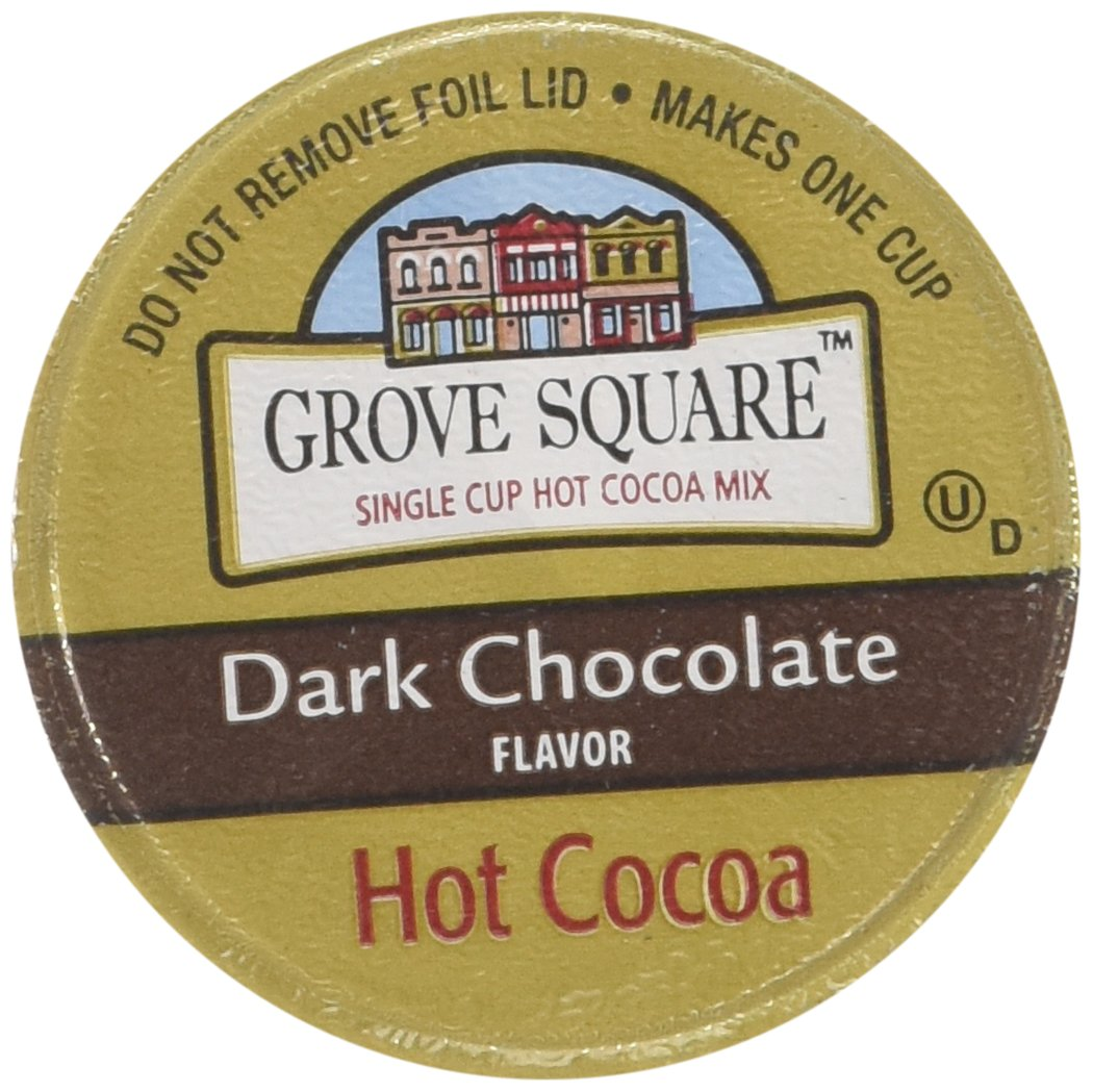 Grove Square Hot Cocoa Cups, Dark Chocolate, Single Serve Cup for Keurig K-Cup Brewers, 48 Count (Packaging May Vary)