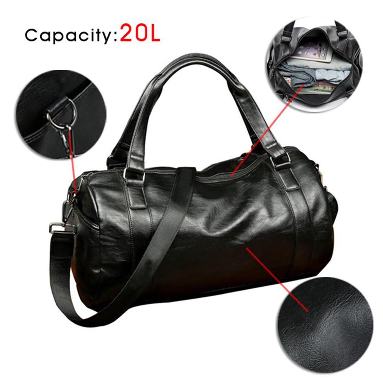527ec0ddd2f6 Sports Duffels Top PU Leather Handbag Totes for Men, Gym, Travel