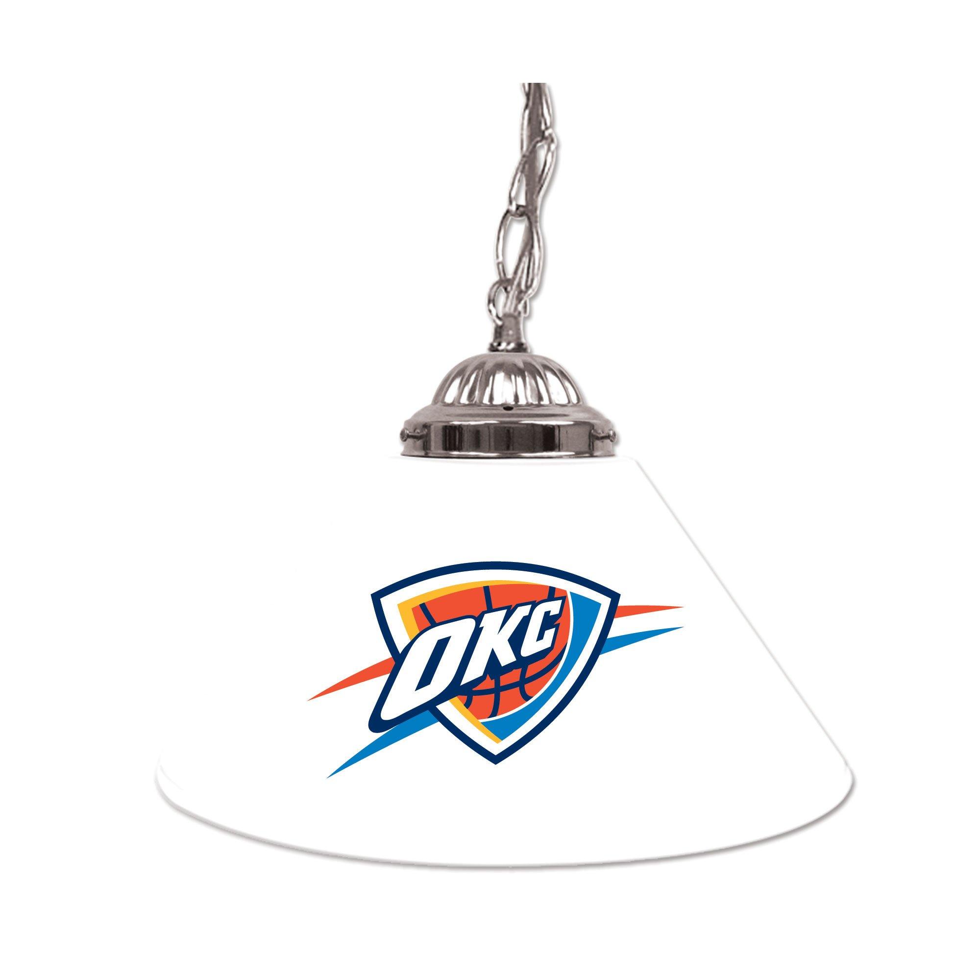 NBA Oklahoma City Thunder Single Shade Gameroom Lamp, 14''