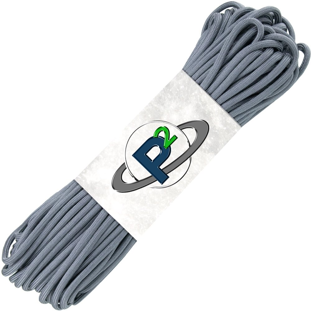 PARACORD PLANET Mil-Spec Commercial Grade 550lb Type III Nylon Paracord 10 feet Charcoal Grey