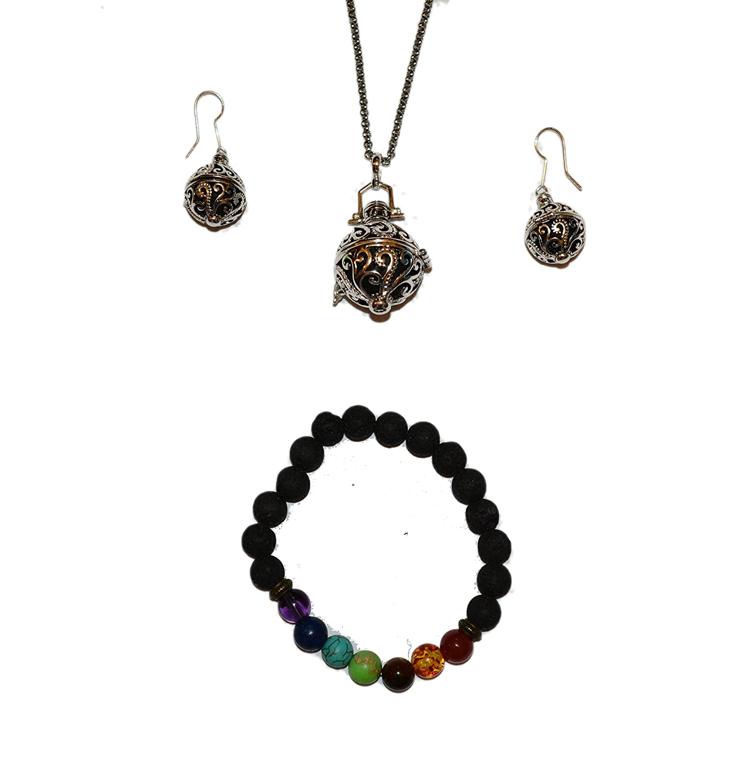 LAVA BEAD EARRINGS  Essential Oil Accessories  Essential Oil Diffuser Jewelry  Macrame Earrings with Beads  Gifts for Her