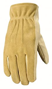 Women's Leather Work and Garden Gloves, Heavy Duty Grain Cowhide, Medium (Wells Lamont 1124M)