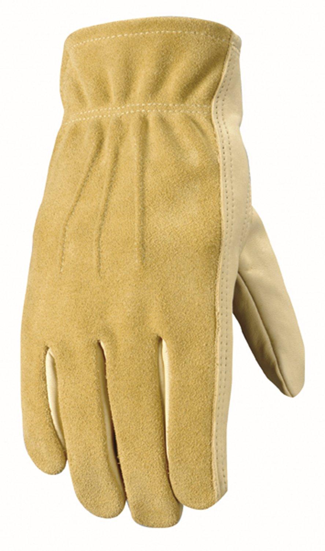 Women's Leather Work and Garden Gloves, Heavy Duty Grain Cowhide, Small (Wells Lamont 1124S)