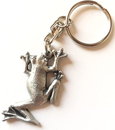 Fine Pewter Frog Keychain with Gift Pouch