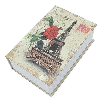 PetHot Secret Dictionary Book Safe Hidden Security Cash Money Storage Lock  Box Case Eiffel Tower