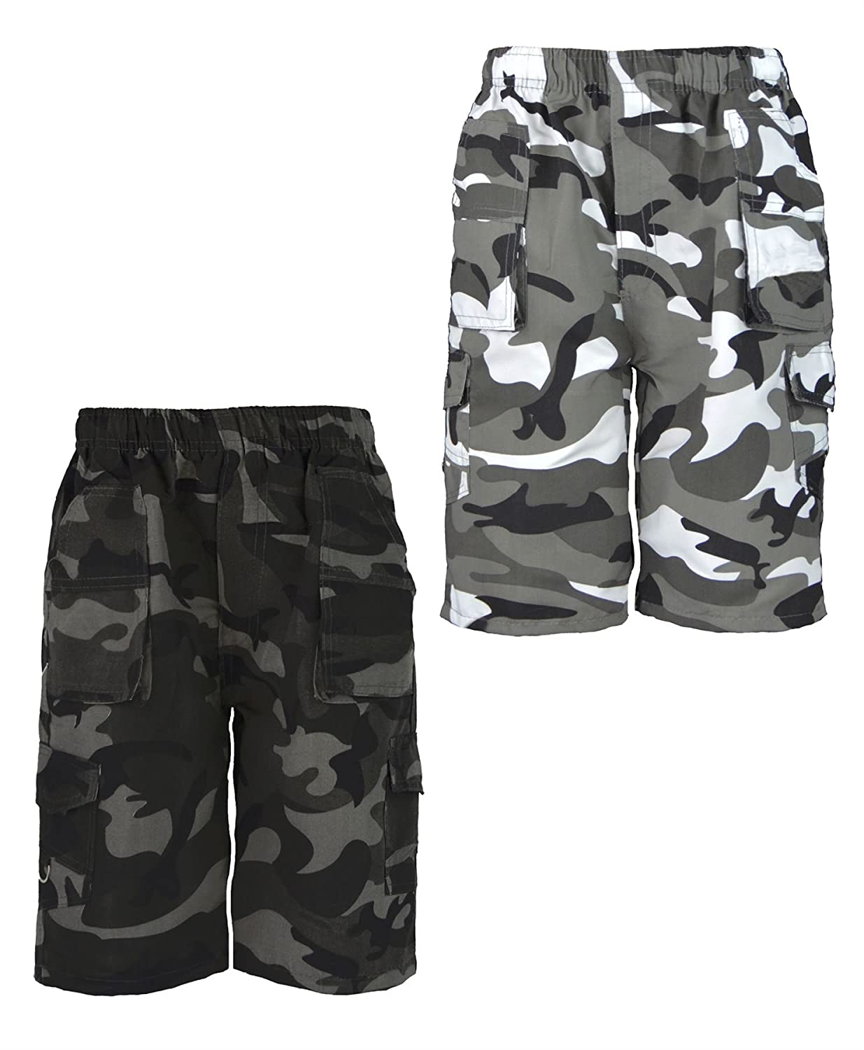 d9557e6707 Amazon.com: LotMart Kids Camouflage Multipocket Shorts Bundle Pack of 2  Colours: Clothing