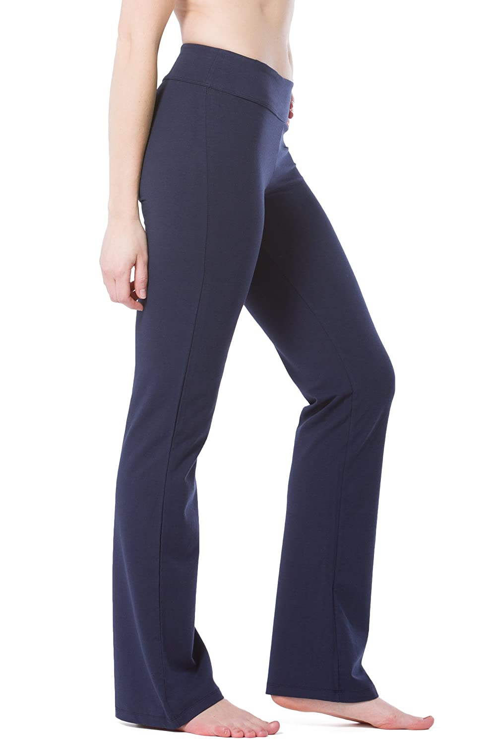 Fishers Finery Womens Ecofabric Classic Bootleg Yoga Pant; Athletic Casual Pant WV-01-YP1-049