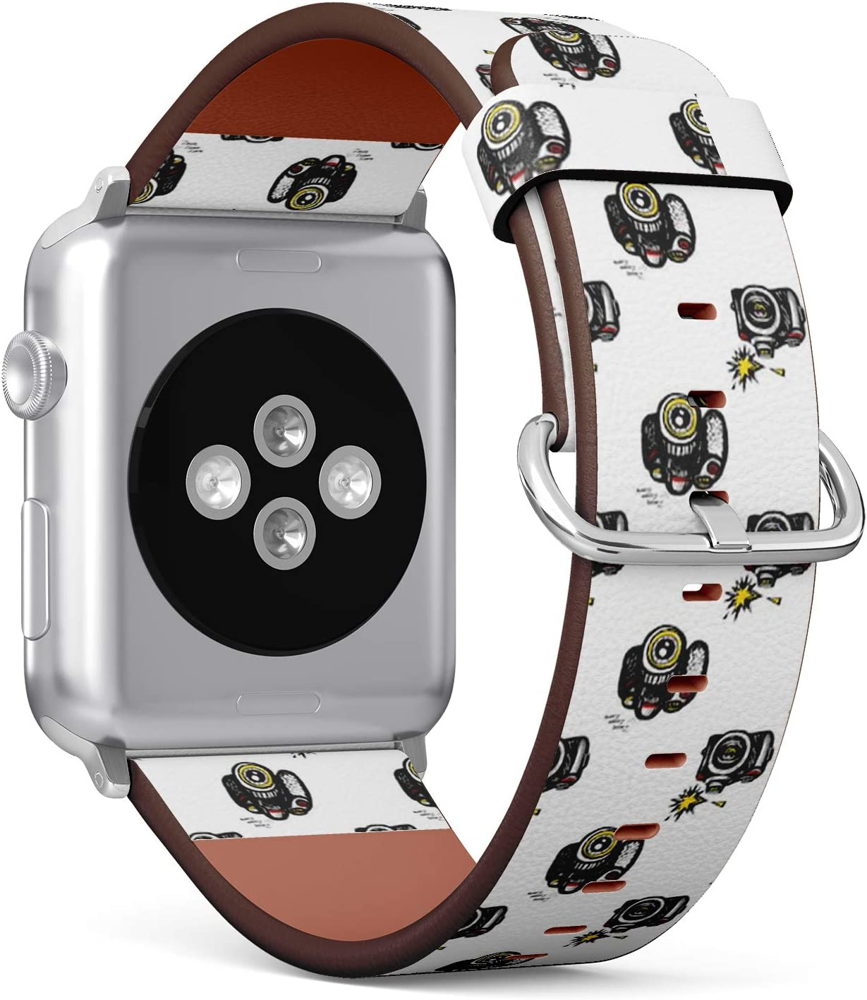 Compatible with Apple Watch (Small 38mm/40mm) Series 1,2,3,4 - Leather Band Bracelet Strap Wristband Replacement - Comics Sketched Body