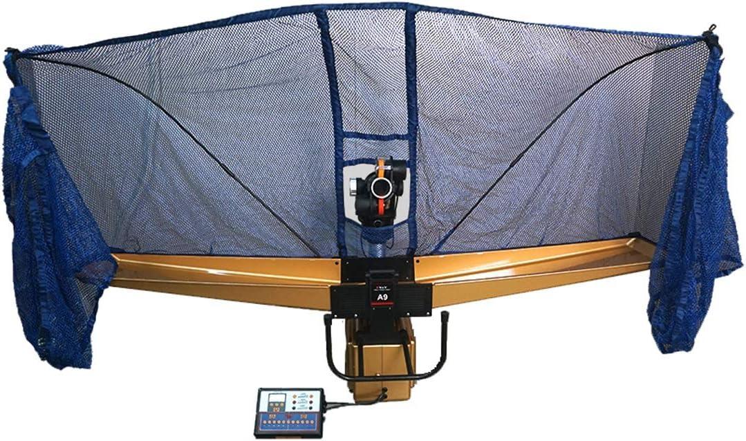 LiChenYao Mesa De Ping Pong Máquina Robot con Net, Auto Irregular Spin, Fácil Programación Mesa De Ping Pong Mercancías For La Práctica De Múltiples Funciones De Reciclaje Bolas