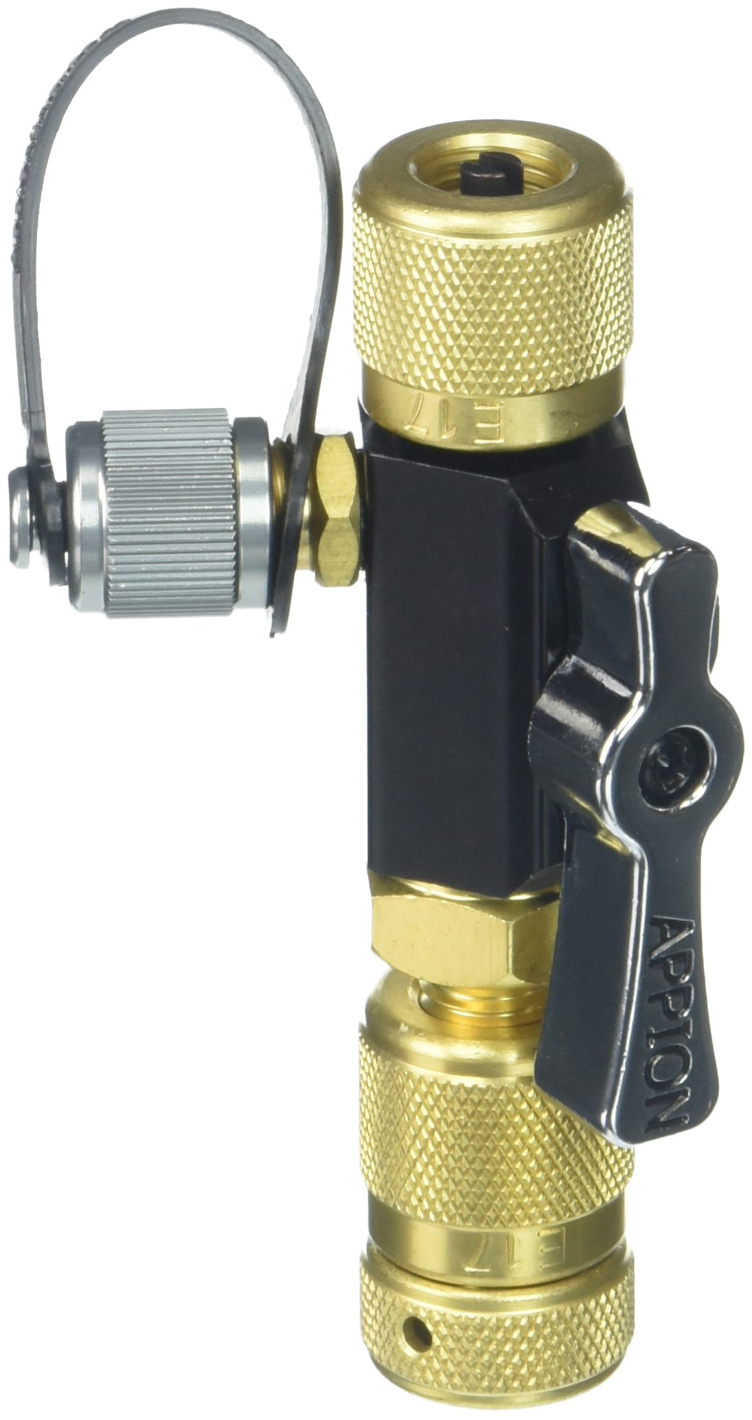 Appion MGAVCT Mega Flow Vacuum-Rated Valve Core Removal Tool, 1/4'' Connection, Black