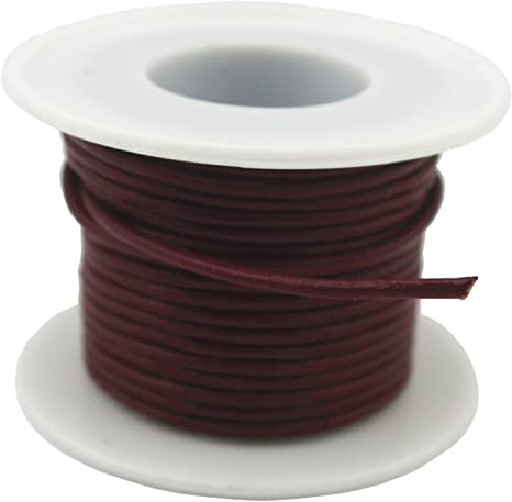 1mm, Natural Glory Qin Soft Round Genuine Jewelry Leather Cord Leather Rope Beading String