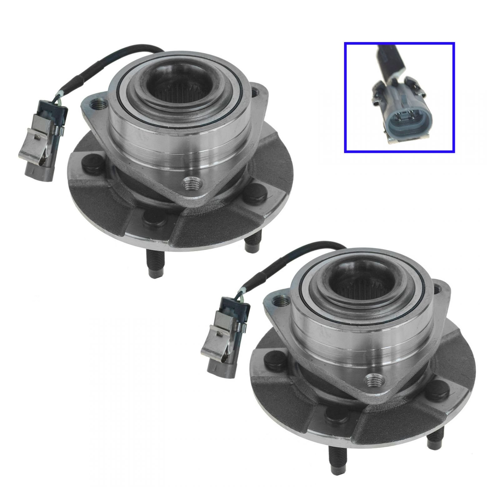 Front Wheel Hub & Bearing Assembly Pair for Equinox Torrent Vue w/ABS