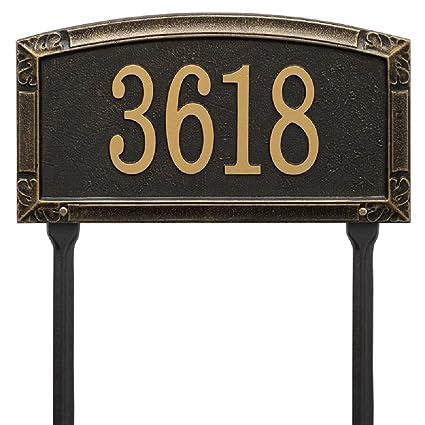 85b55db7f71 Amazon.com   Whitehall Worthington Standard LAWN Address Plaque 14 ...