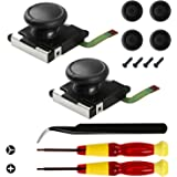 Veanic 2-Pack 3D Joystick Analog Thumb Stick for Switch Joy-Con Controller - Include Tri-Wing, Cross Screwdriver, Pry…