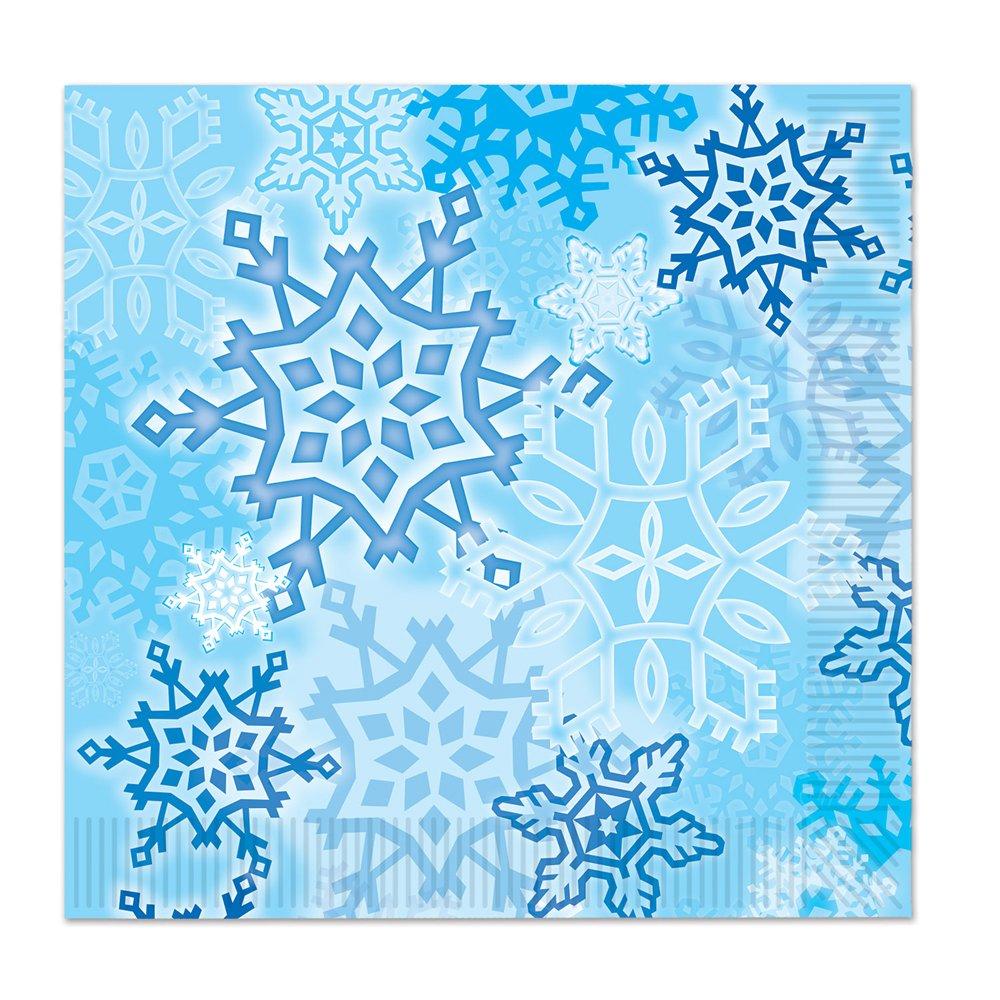 Beistle Snowflake Luncheon Napkins Blue//White 16 Count