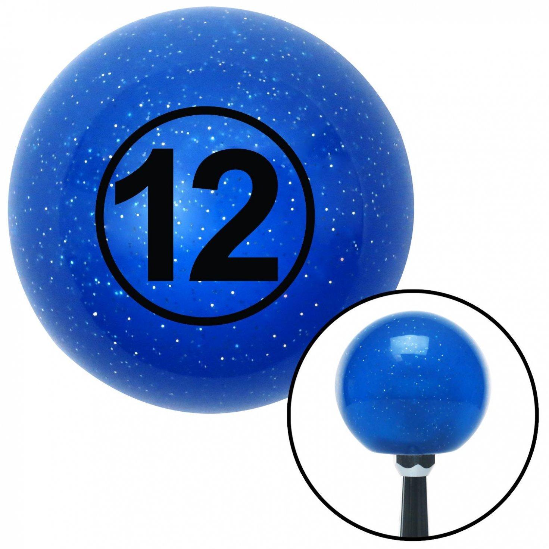 Black Ball 12 American Shifter 22419 Blue Metal Flake Shift Knob with 16mm x 1.5 Insert