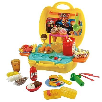 Amazon com: PlayGo Dough & Carry Cinema Snack bar Children's