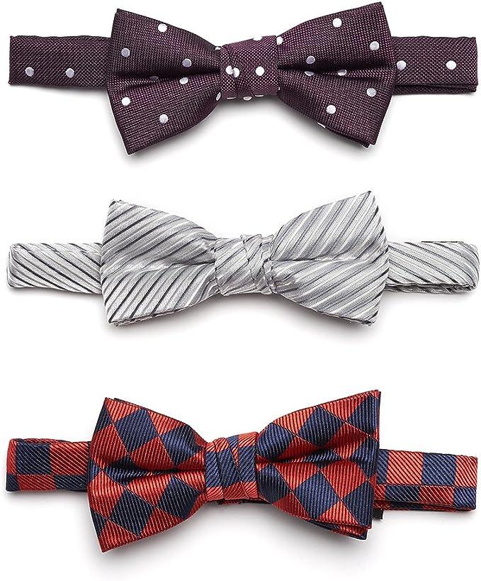 Cravatte alla moda gi/à annodate varie fantasie regolabili e facili da indossare per bambini Lovjoy