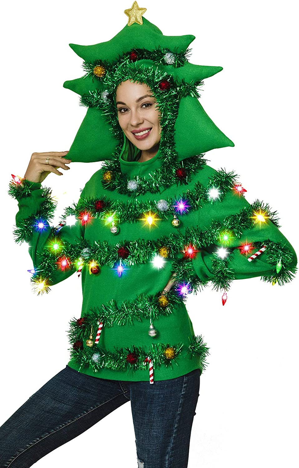 OFF Regular dealer THE RACK Women's Ugly Christmas At the price of surprise Sweater Funny Sw Fluffy Xmas