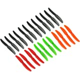Original Gemfan Pack multicouleurs 5030 5x3 Hélices 24 Pieces (12 CW, 12 CCW) Facil&co© -12 Noir, 4 Orange, 4 Rouge, 4 Vert - Original & Haute Qualité 5-Pouces Quadcopter et Multirotor Drone Hélices