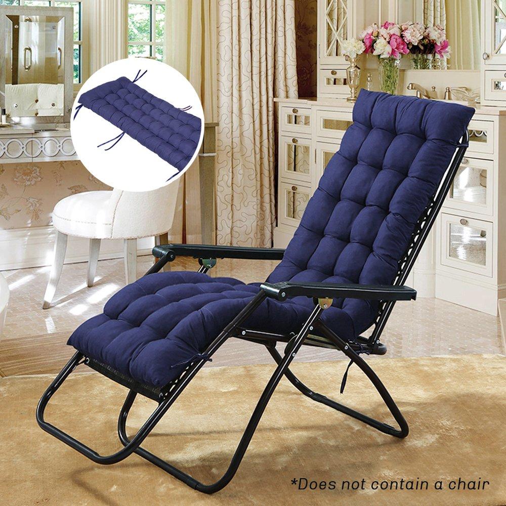 everso, sdraio da giardino e da veranda, con cuscino superiore, cuscino con imbottitura spessa, navy blue, 1 confezione skyblue-uk