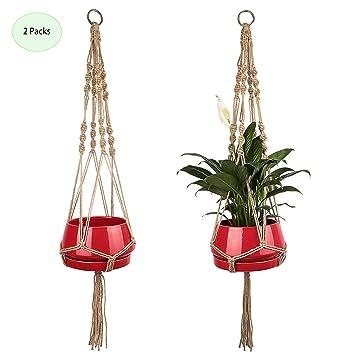 Favorwave 41 Macrame Plant Hanger Hanging Planter Baskets Holder