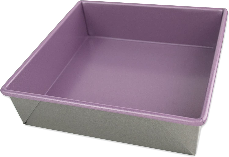 USA Pan Allergy Id Nonstick Square Cake Pan, 8-Inch, Purple