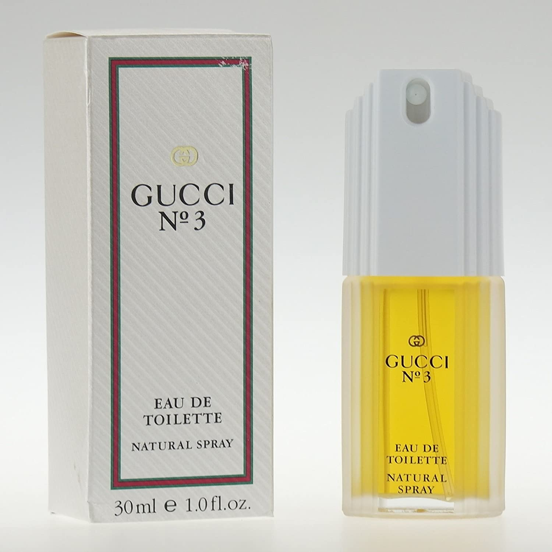Gucci No 3 by Gucci for Women 30ml (1oz) Eau de Toilette EDT Spray Number Three No:3 #3 Rare Gucci Perfume