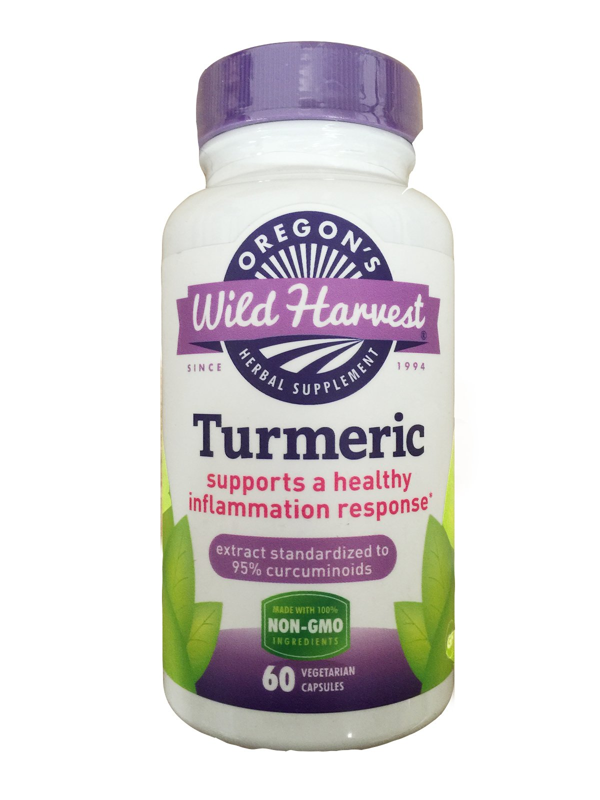 Turmeric - 60 Vcaps,(oregon's Wild Harvest)(4 Pack)