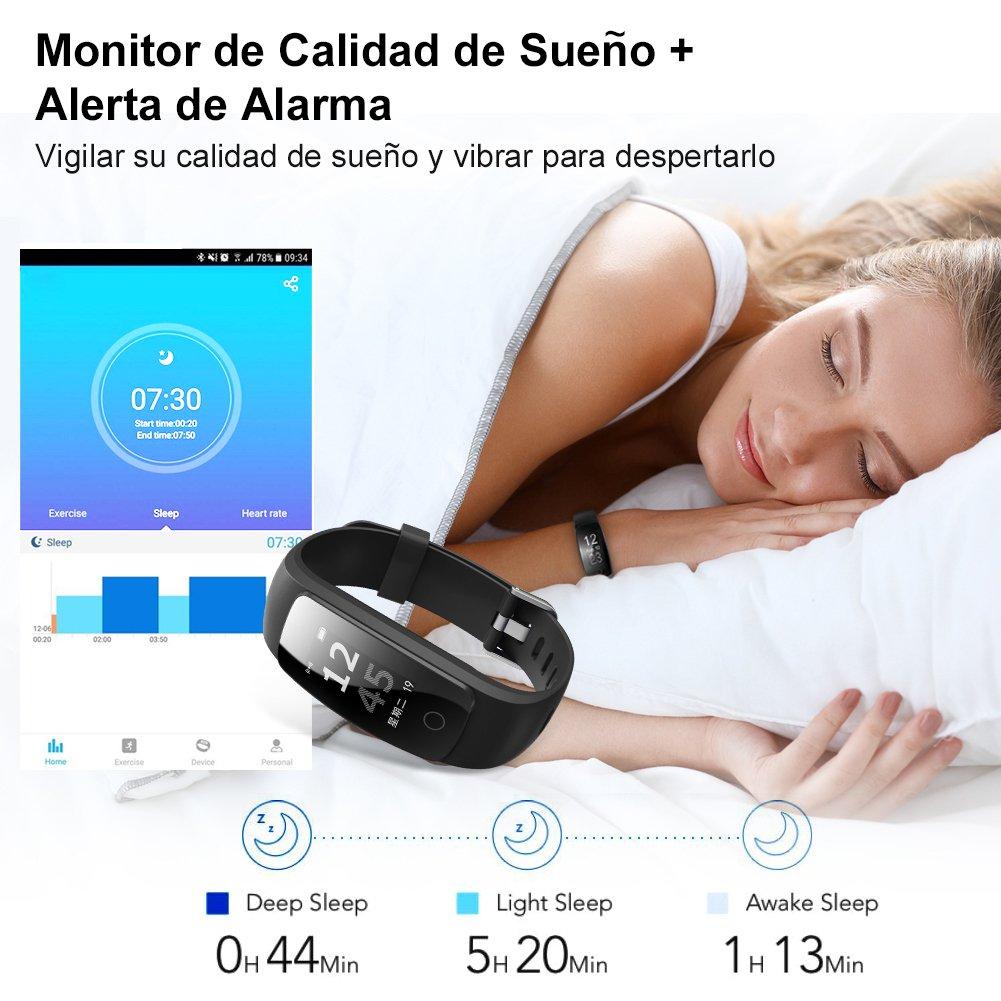 NAIXUES Pulsera Actividad con GPS Pulsera Inteligente con 14 Modos de Deporte Pulsómetro Monitor de Ritmo Cardíaco Impermeable IP67 Reloj Inteligente ...