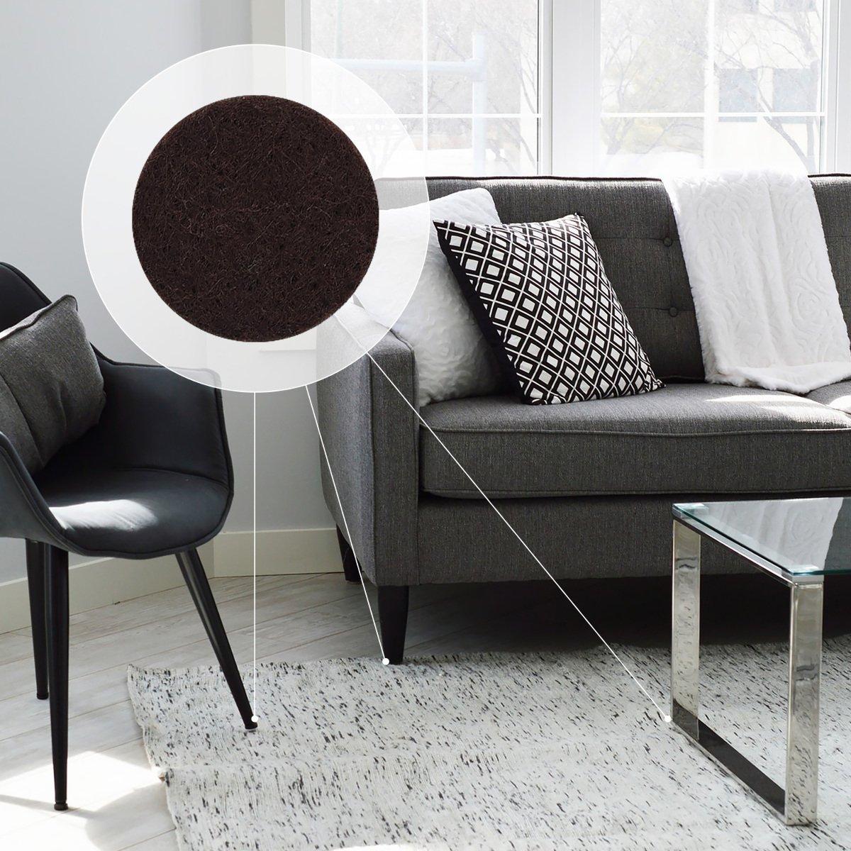 Tampon adh/ésif en mousse EVA pour pied meuble chaise table Navaris Set 215 patins autocollants Noir Plusieurs formes Protection sol plancher
