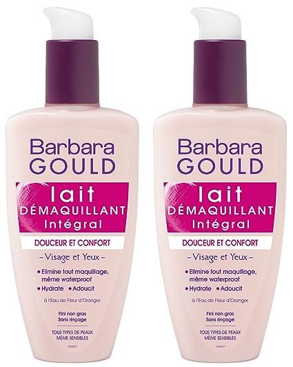 Barbara Gould – Leche desmaquillante integral – Suave y cómoda – Frasco con dosificador de 200