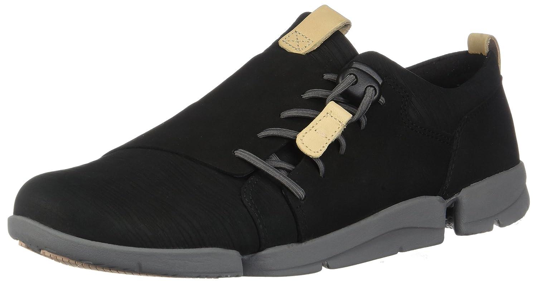 CLARKS Womens Tri Camilla Sneaker B0754N8HRC 8.5 B(M) US|Black Nubuck