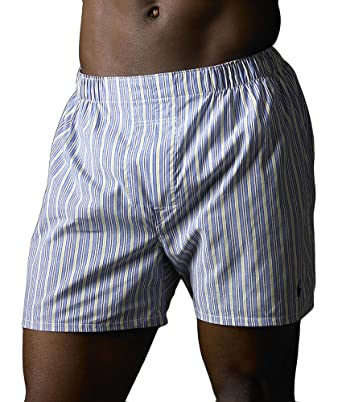 d068eb985db4 Polo Ralph Lauren Classic Woven Boxer 3-Pack, S, Blue Assorted
