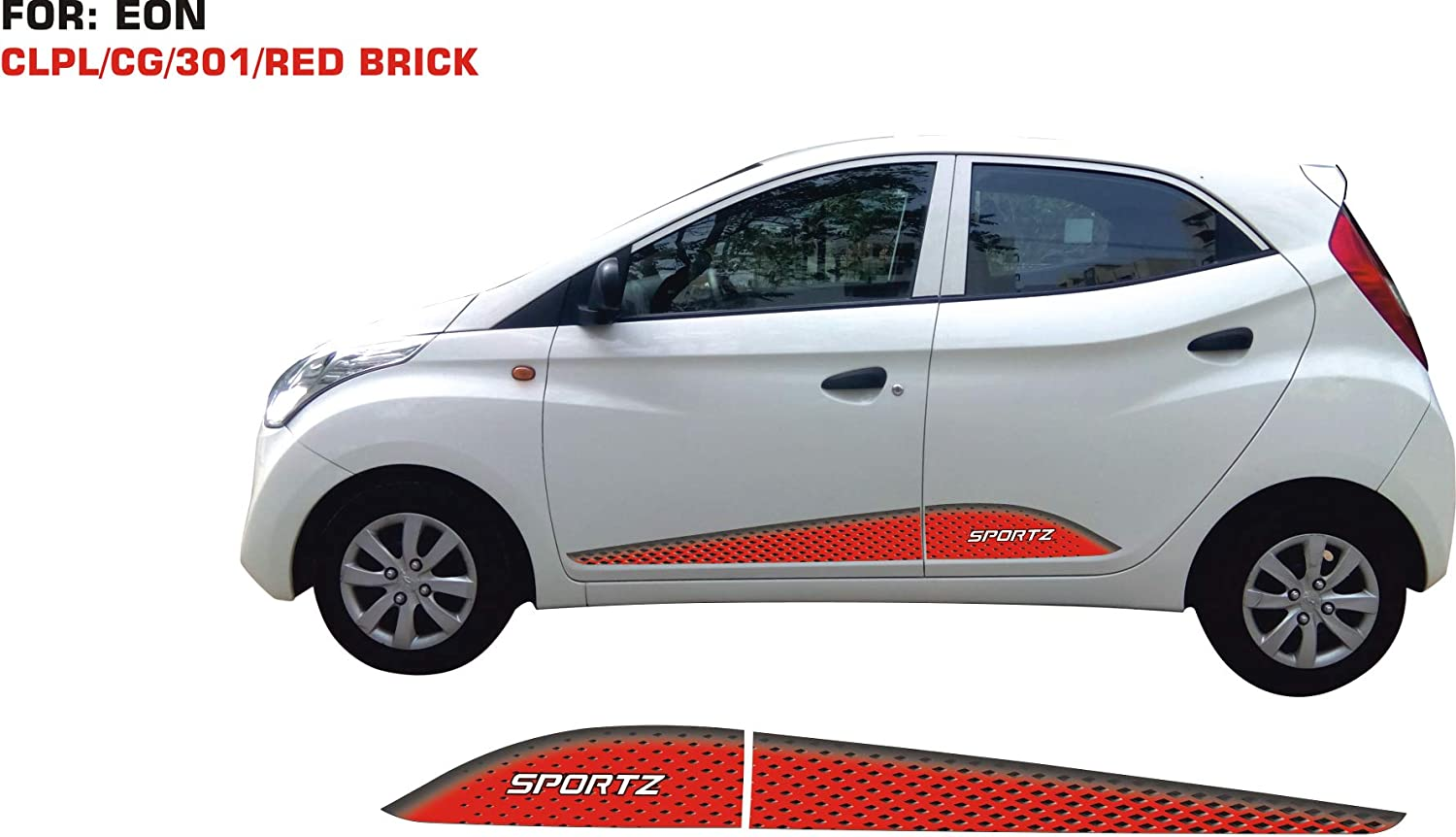 Automaze car body stickers graphics for eon red brick both sides model 0301 amazon in car motorbike